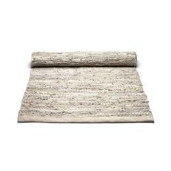Læder tæppe - beige 60x90 cm