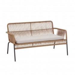 LAFORMA 2 pers. Samanta havesofa m. hynde - beige polyesterreb og stål