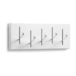 LAFORMA Anais knagerække - hvid/sølv metal