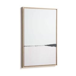 LAFORMA rektangulær Wrigley billede - multifarvet papir og træ (90x60)