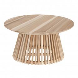 LAFORMA rund Irune sofabord - natur teaktræ (Ø80)