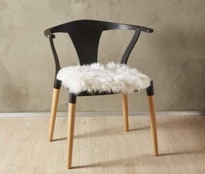 Lammeskind - Sædehynde 40x40 cm - Hvid