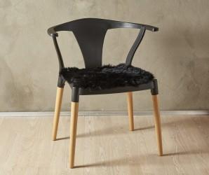 Lammeskind - Sædehynde 40x40 cm - Sort