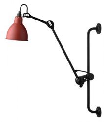 Lampe Gras N°210 væglampe - rød/sort