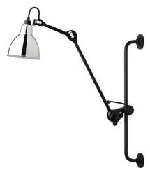 Lampe Gras N°210 væglampe - sølv/sort