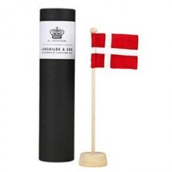 Langkilde & Søn bordflagstang med Dannebrog