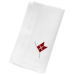 Langkilde & Søn servietter med flag - 6 stk.