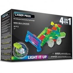 Laser Pegs byggesæt - Mini bulldozer 4-i-1