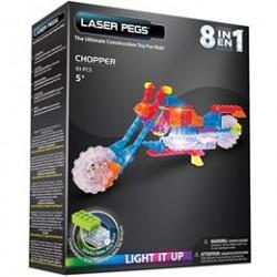 Laser Pegs byggesæt - Motorcykel 8-i-1