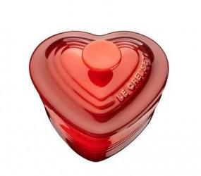 Le Creuset Ramekin Hjerte med Låg 0,25 l Cerise
