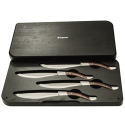 Legnoart Angus 4 steakknive i eksklusiv trææske