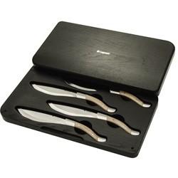 Legnoart Sæt m/ 4 Steak Knive i eksklusiv træ-æske