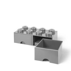 LEGO opbevaringskasse med 2 skuffer - Grå