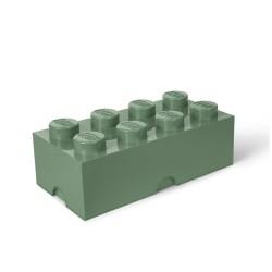 LEGO opbevaringskasse med 8 knopper - Grøn