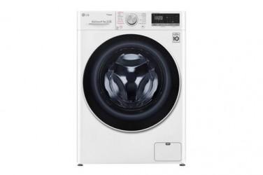 LG F4dv508s2w Vaske-tørremaskine - Hvid