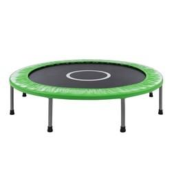 Lille trampolin / fitness trampolin på 120 cm i diameter, grøn