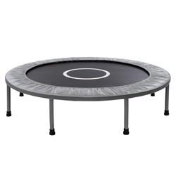 Lille trampolin / fitness trampolin på 120 cm i diameter, sølv