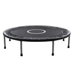 Lille trampolin / fitness trampolin på 120 cm i diameter, sort