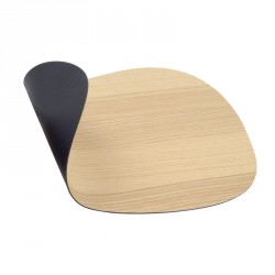 LINDDNA tableMAT Double Curve Wood Oak/Soft Bull