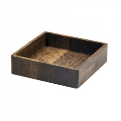 LINDDNA Wood Box Square Oak Smoked