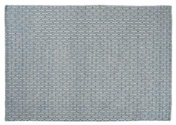 Linie Design Tile Tæppe - Petrol - 140x200