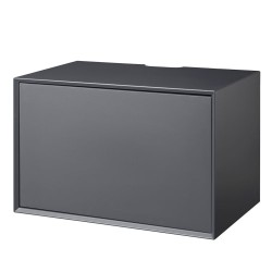 Living&more hi-fi skab - The Box - 37 x 58 x 34 cm - Antracit