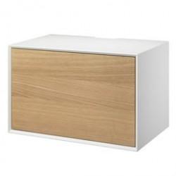 Living&more hi-fi skab - The Box - 37 x 58 x 34 cm - Hvid/eg