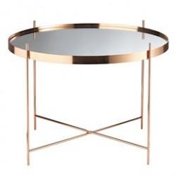 Living&more metalbord - Mirror - Rosaguld-look