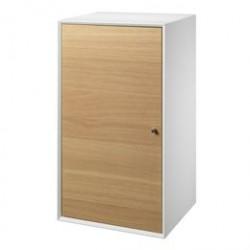 Living&more skab - The Box - 71,5 x 39,4 x 34 cm - Hvid/eg