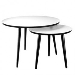 Living&more sofabordsæt - Kos - Sort/hvid