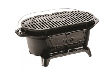 Lodge Cast Iron Sportsman's Grill, Limited Production, grill surface 43.82 cm x 22.86 cm