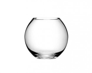 LSA International Flower vase round klar 22 cm