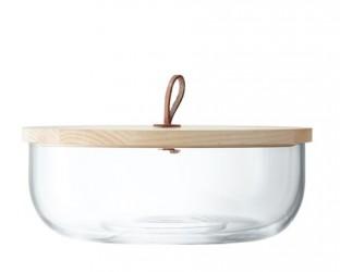 LSA International Ivalo skål klar, med trælåg Ø 29 cm