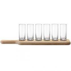 LSA International Paddle Shotglas-sæt 40cm klar/eg