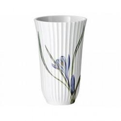 Lyngby Flora Danica Krokus motiv Vase Hvid 18 cm