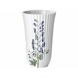 Lyngby Flora Danica Stormhat motiv Vase Hvid 18 cm