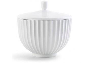 Lyngby Porcelæn Bonbonniere Hvid 14 cm
