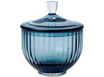 Lyngby Porcelæn Bonbonniere Midnight Blue 10 cm