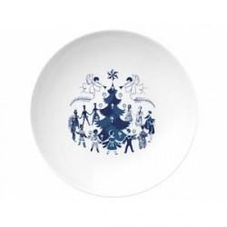 Lyngby Porcelæn Dyb tallerken Blå