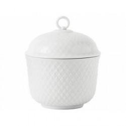 Lyngby Porcelæn Rhombe Sukkerskål Hvid 8,5 cm 1 stk.