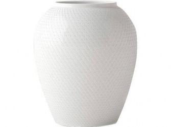Lyngby Porcelæn Rhombe Vase Hvid 17 cm