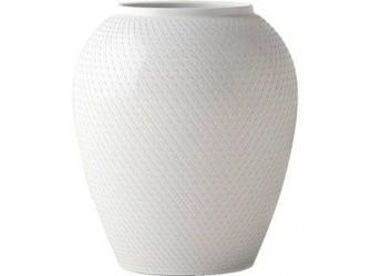 Lyngby Porcelæn Rhombe Vase Hvid 25 cm