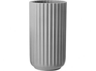 Lyngby Porcelæn Vase Lys grå 15 cm