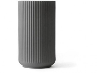 Lyngby Porcelæn Vase Mørk grå 12 cm