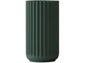 Lyngby Porcelæn Vase Mørkegrøn 12 cm