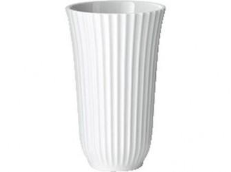 Lyngby Trumpet Vase Hvid 18 cm