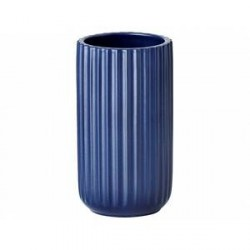 Lyngby Vase Mat blå 15 cm