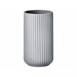 Lyngby Vase Mat grå 25 cm