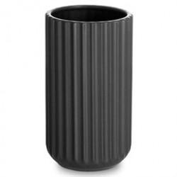 Lyngby vase - Sort porcelæn - 15 cm