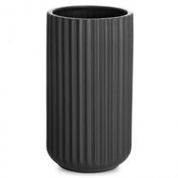Lyngby vase - Sort porcelæn - 20 cm